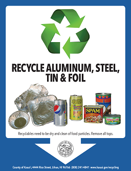 aluminum, steel, foil recycling flyer