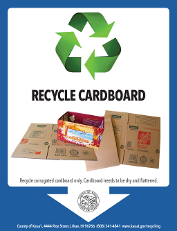 cardboard recycling flyer