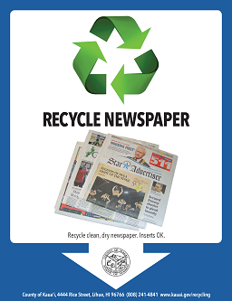 newspapers recycling flyer