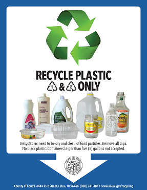 plastic recycling flyer